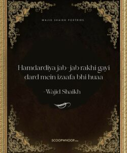Read more about the article 25 Motivational Shayaris of Wajid shaikh To Read When Life's Troubles Seem To Have No End