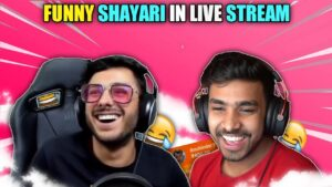 Read more about the article Funny Shayari In Live Stream || carryminati and techno gamerz reaction