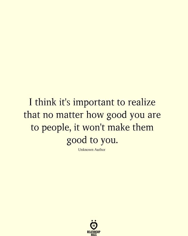 You are currently viewing I think it's important to realize that no matter how good you