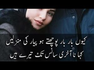 Read more about the article Love shayari😍❤/Best collection of Romantic urdu Love poetry //Rehan Love shayari//Best Love poetry