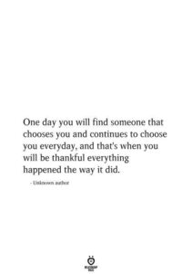 Read more about the article One Day You Will Find Someone