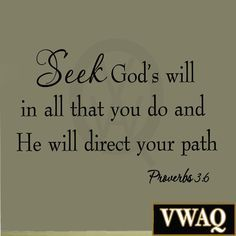 Read more about the article VWAQ Seek God's Will in All That You Do Proverbs 3:6 Bible Vinyl Wall Decal