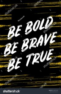 Read more about the article Be Bold Brave True Quotes Apparel Stock Vector (Royalty Free) 1568752393