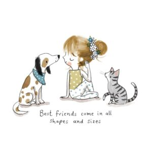"""Read more about the article Cally Johnson-Isaacs on Instagram: """"💙best friends come in all shapes and sizes💙 #best_of_illustrations #illustrationnow #moreillustrations #yoga #yogspiration…"""""""