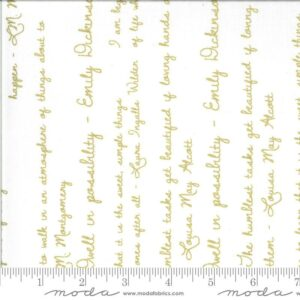 Read more about the article Dwell in Possibility Ivory Quotes Yardage | SKU #48315 19M – 4 Yards