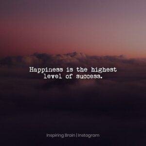Read more about the article Happiness is the highest level of success.