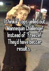 """Read more about the article I think if cops yelled out """"Mannequin Challenge!"""" Instead of """"Freeze!"""" They'd have better results."""