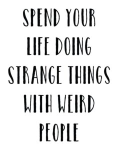 Read more about the article IM the weird people coming up with the strange things!!