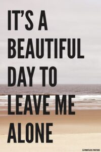 Read more about the article It's A Beautiful Day To Leave Me Alone Poster