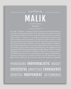 Read more about the article Malik | Name Art Print