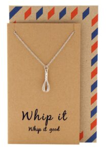 Read more about the article Nadja Whisk Necklace Gift for Bakers, Funny Greeting Card