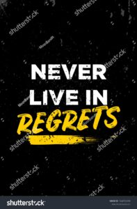 Read more about the article Never Live Regrets Quotes Apparel Tshirt Stock Vector (Royalty Free) 1568752399