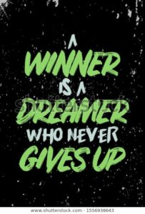 Read more about the article Winner Dreamer Quotes Tshirt Apparel Design Stock Vector (Royalty Free) 1556938643