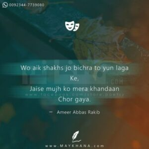Read more about the article Wo aik shakhs jo bichra – May Khana The Best Urdu Poetry Store