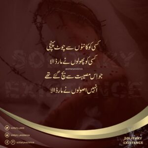 Read more about the article #mohabbat #kaanton #chott #phool #lostfriends #usool #silence #lovequotes #frien