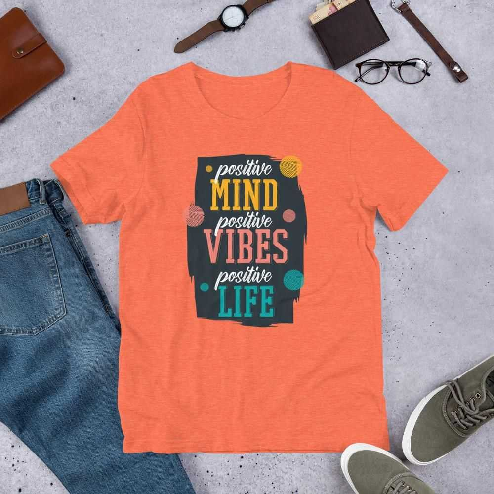 You are currently viewing Positive Quote – Short-Sleeve Unisex T-Shirt – Heather Orange / M