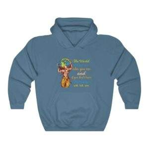 Read more about the article The World Will Ask You Who You Are And If You Dont Know The World Will Tell You — Carl Jung Quote Hoodie – Indigo Blue / 3XL