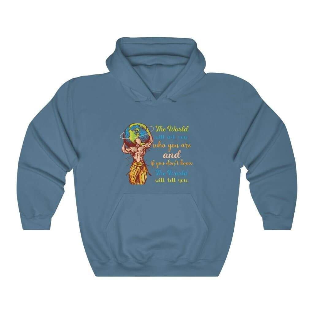 You are currently viewing The World Will Ask You Who You Are And If You Dont Know The World Will Tell You — Carl Jung Quote Hoodie – Indigo Blue / 3XL
