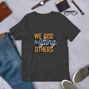 Read more about the article Lifting Others – Short-Sleeve Unisex T-Shirt – Dark Grey Heather / M