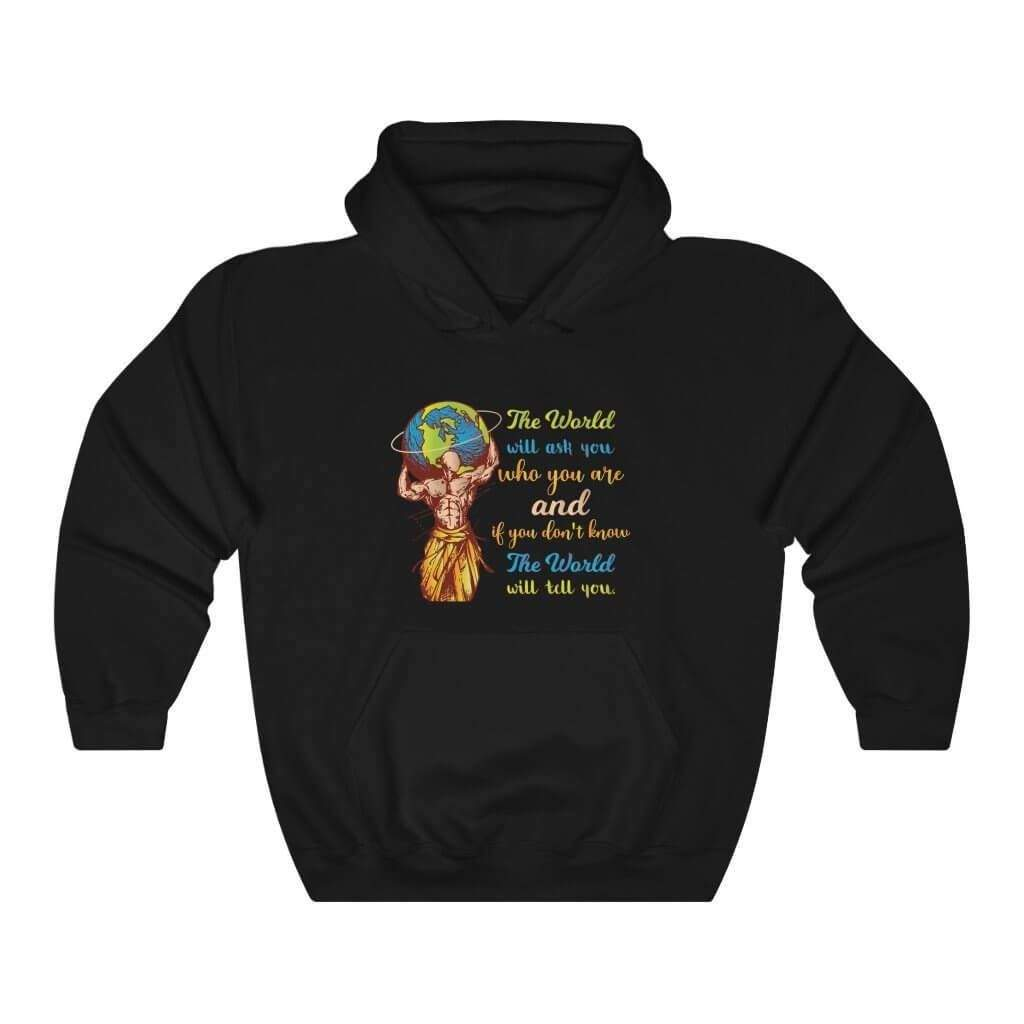 You are currently viewing The World Will Ask You Who You Are And If You Dont Know The World Will Tell You — Carl Jung Quote Hoodie – Black / 4XL