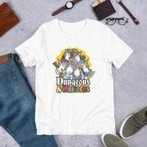 Read more about the article Dungeons & Unicorns – Short-Sleeve Unisex T-Shirt – White / 2XL