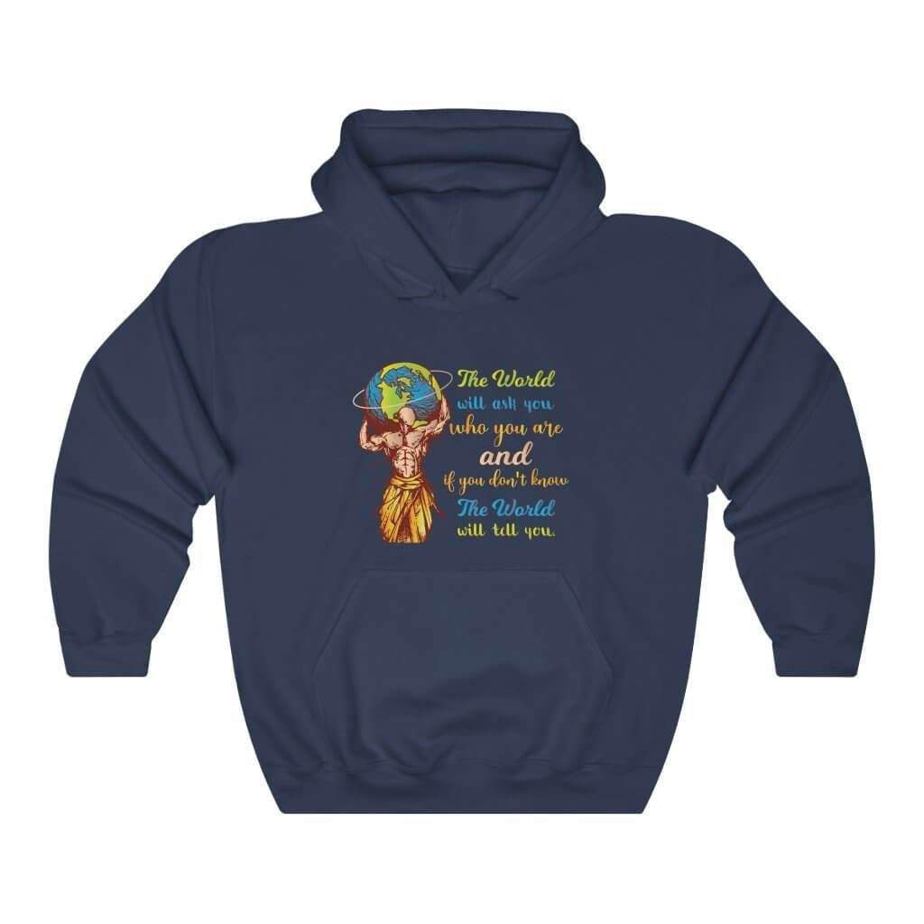 You are currently viewing The World Will Ask You Who You Are And If You Dont Know The World Will Tell You — Carl Jung Quote Hoodie – Navy / M