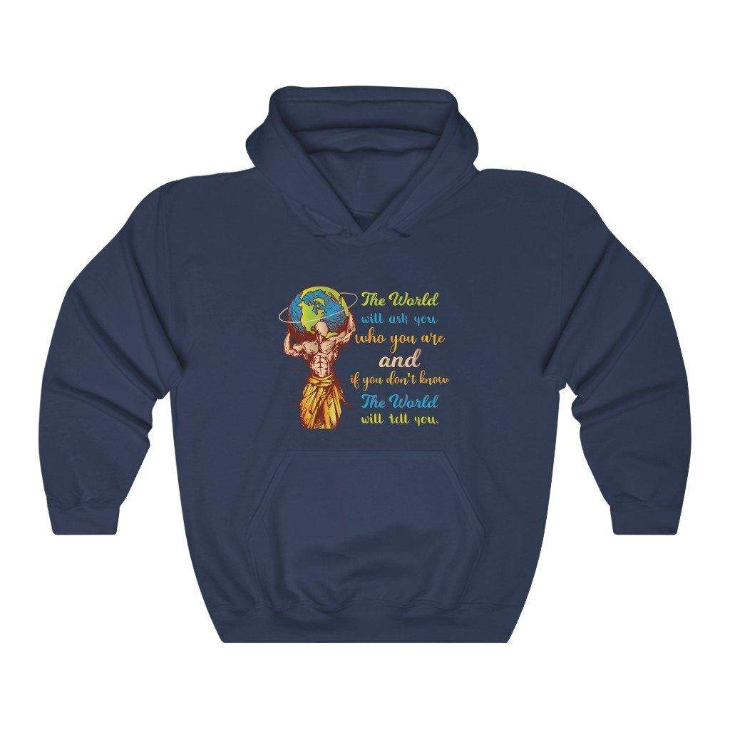 You are currently viewing The World Will Ask You Who You Are And If You Dont Know The World Will Tell You — Carl Jung Quote Hoodie – Navy / 4XL