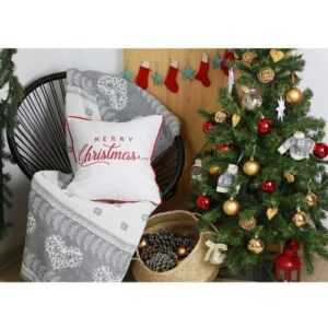 Read more about the article 18″x18″ Red Christmas Quote Printed Decorative Throw Pillow Cover