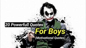 Read more about the article 20 Powerfull Quotes For Boys || Joker Attitude Quotes 🔥 || JJ Joker