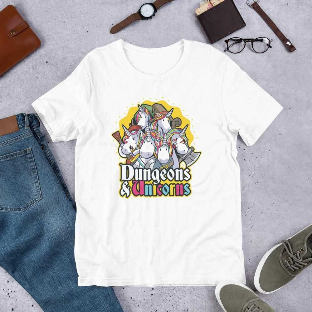 You are currently viewing Dungeons & Unicorns – Short-Sleeve Unisex T-Shirt – White / XL