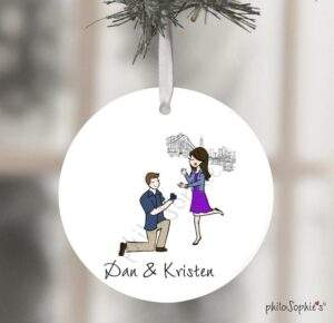 Read more about the article Empire State Building Engagement Wine Tag/Ornament