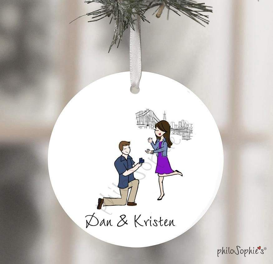 You are currently viewing Empire State Building Engagement Wine Tag/Ornament