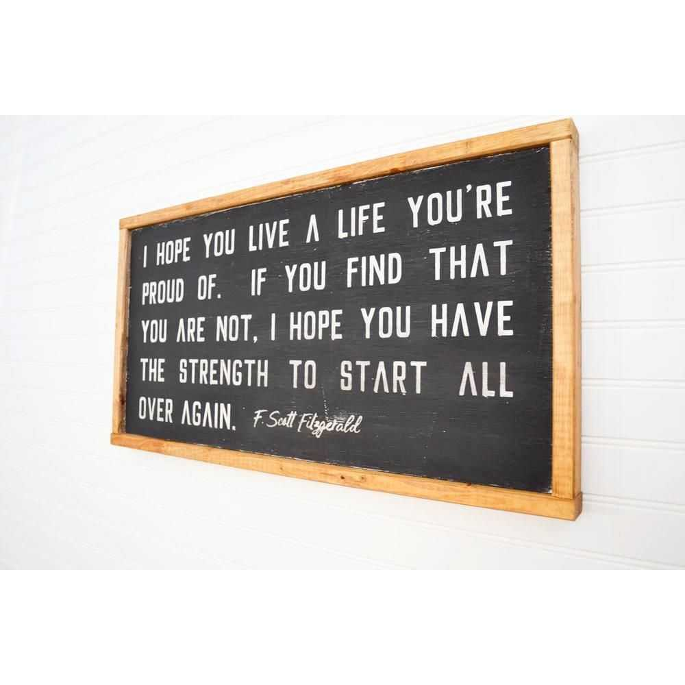 You are currently viewing F. Scott Fitzgerald Quote Wood Sign