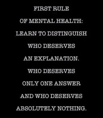 You are currently viewing First rule of mental health