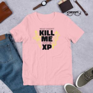 Read more about the article Gaming Experience – Short-Sleeve Unisex T-Shirt – Pink / 3XL