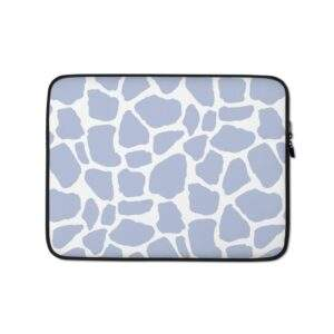 Read more about the article Giraffe Print Laptop Sleeve Blue – 13 in