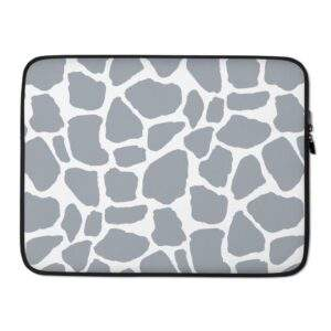 Read more about the article Giraffe Print Laptop Sleeve Grey – 15 in
