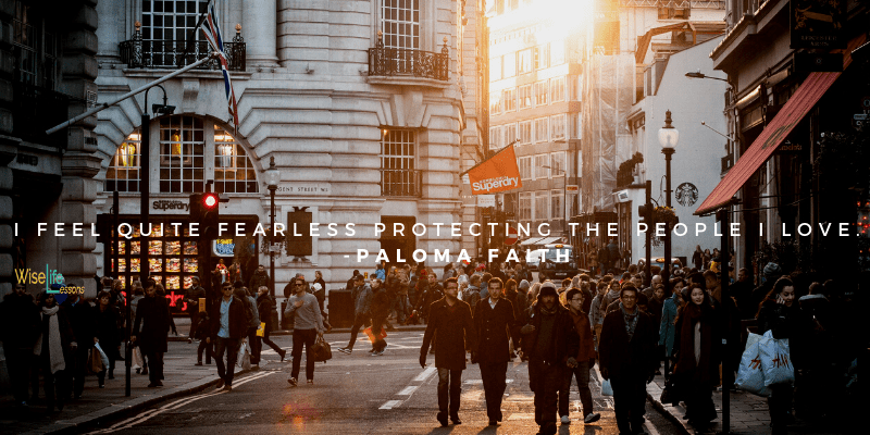"""You are currently viewing """"I feel quite fearless protecting the people I love."""" – Paloma Faith Via Wise Li"""