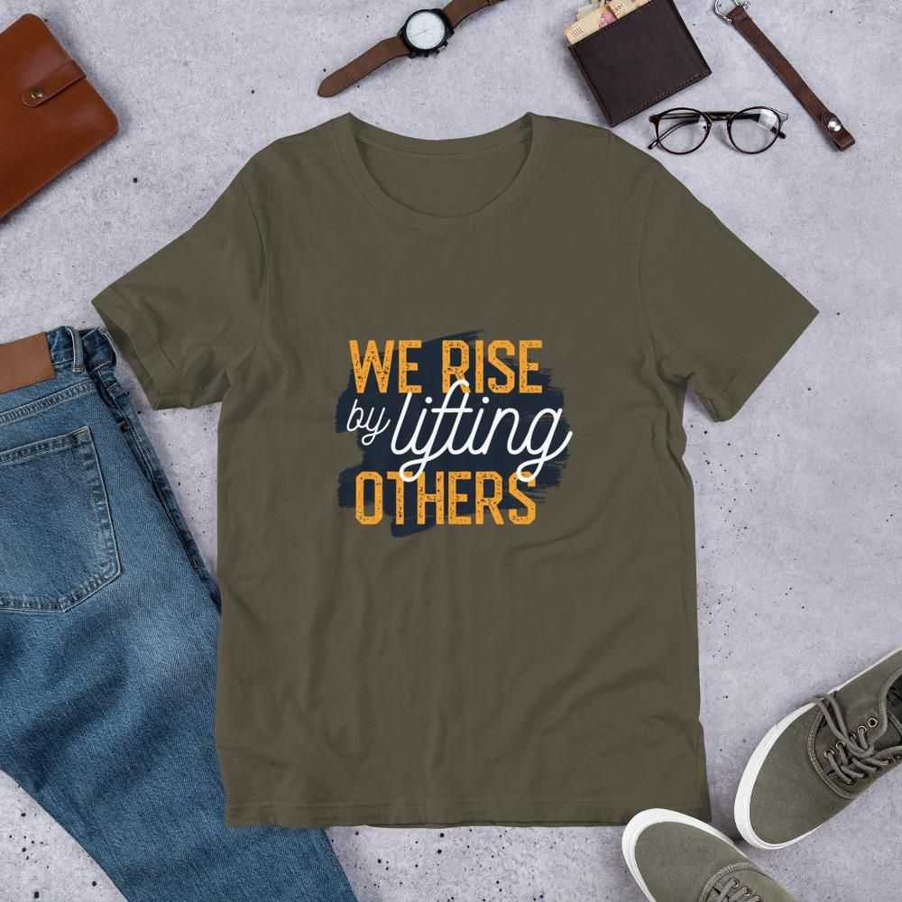 You are currently viewing Lifting Others – Short-Sleeve Unisex T-Shirt – Army / 3XL