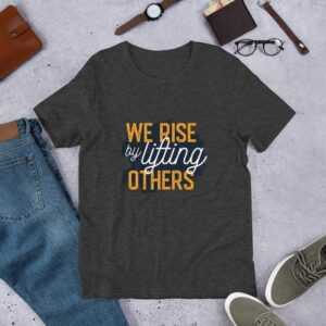 Read more about the article Lifting Others – Short-Sleeve Unisex T-Shirt – Dark Grey Heather / 2XL