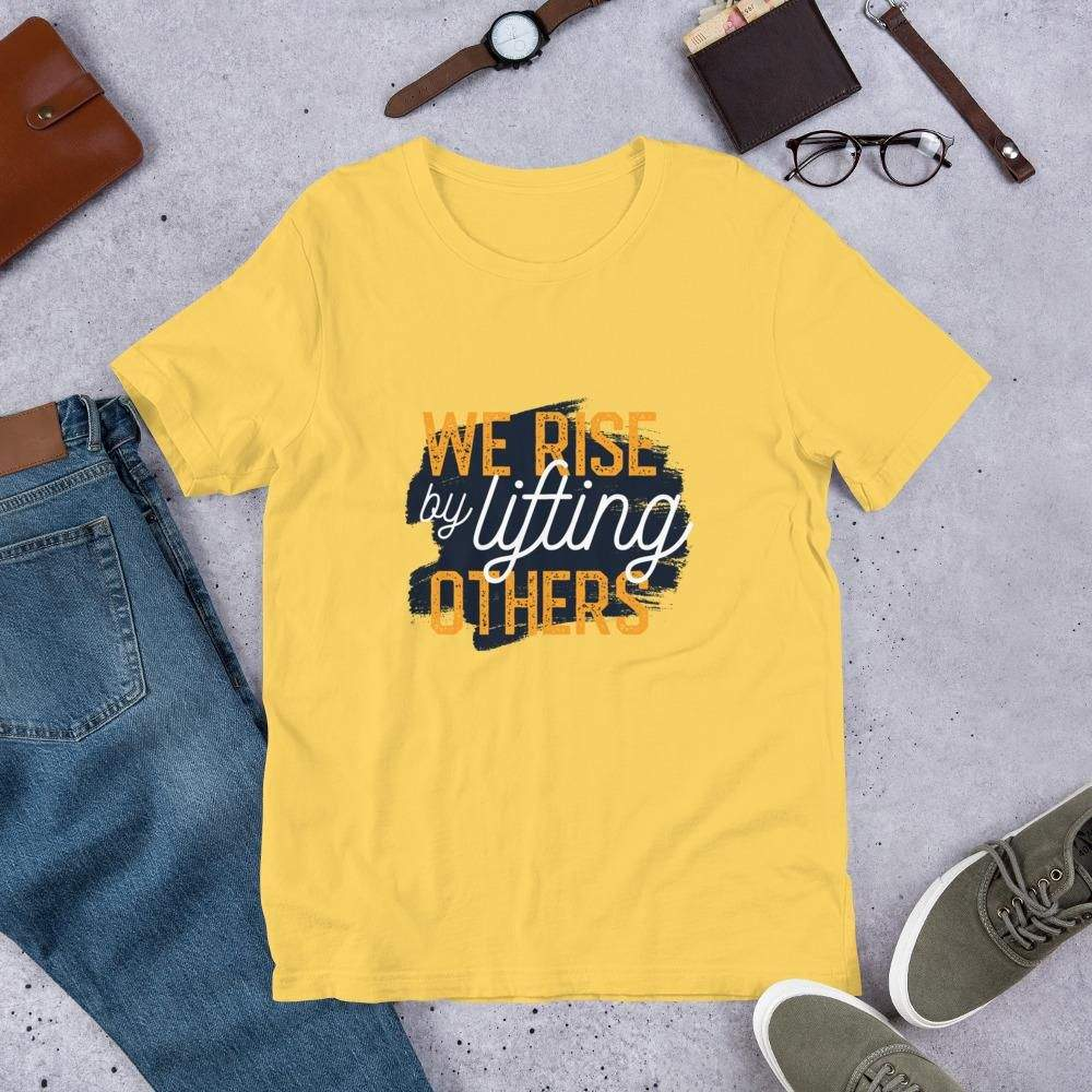 You are currently viewing Lifting Others – Short-Sleeve Unisex T-Shirt – Yellow / S