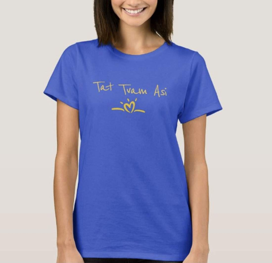 You are currently viewing Love & Gratitude to Mary for ordering our Tat Tvam Asi tee in this beautiful blu