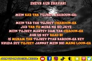 Read more about the article MEIN KAB TAK TUJHE CHAOON GA