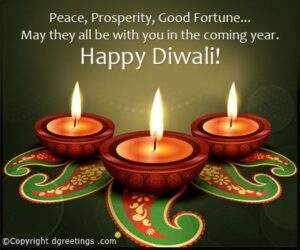 Read more about the article Peace, prosperity, Good Fortune, Free Diwali Business Cards from Dgreetings
