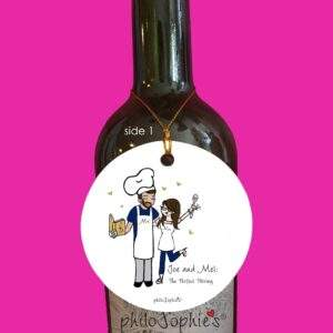 Read more about the article Perfect Pairing Engagement Wine Tag/Ornament