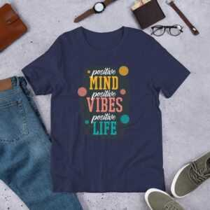 Read more about the article Positive Quote – Short-Sleeve Unisex T-Shirt – Navy / 2XL