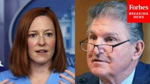 """Psaki quotes Manchin: """"Republicans have a responsibility to stop saying no"""" to compromise"""