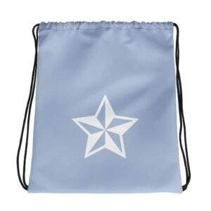 """Read more about the article """"Star"""" Drawstring Bag Blue"""