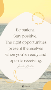 Read more about the article Stay Positive