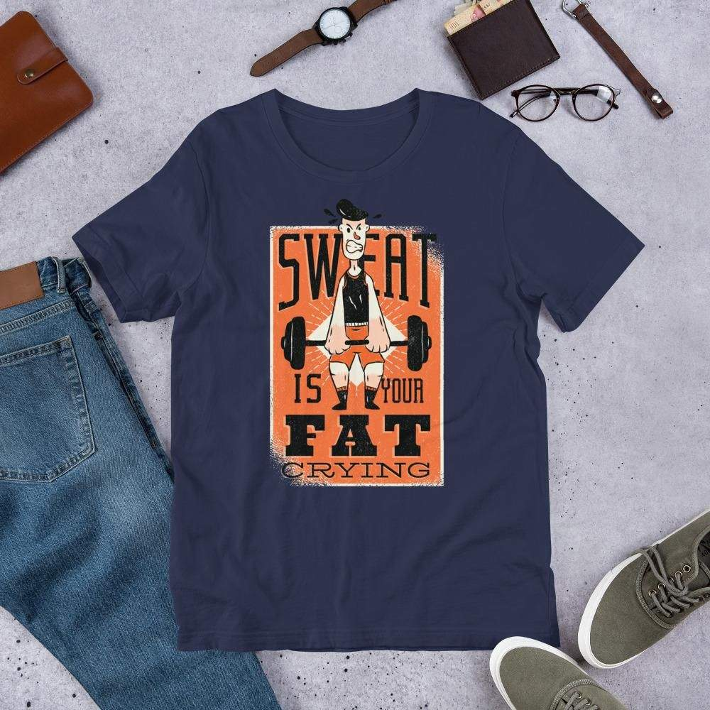 You are currently viewing Sweat Quote – Short-Sleeve Unisex T-Shirt – Navy / XL